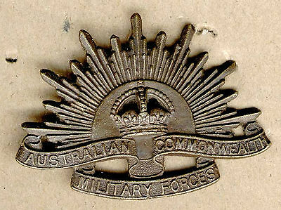 Military Australia General Service  Hat Badge Rising Sun Anzac Egypt Ww1
