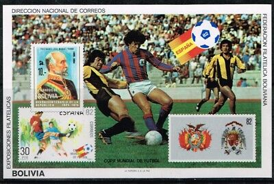 Bolivia.1982.Spain World Cup.Soccer.Football.Fussball.MNH.**