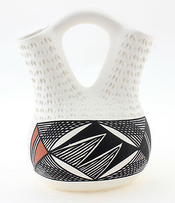 Small Acoma Wedding Vase Signed by B. Garcia