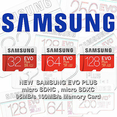 Samsung EVO Plus 32GB 64GB 128GB 256GB micro SD Class 10 TF Flash Memory Card G