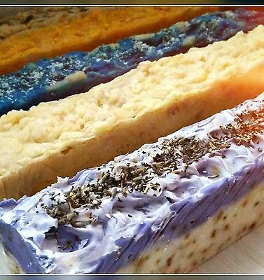 5 Natural Handmade Soap Loafs Slice & Sell 32cm Long x 6cm Wide -1.5KG Loaves