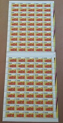 1973 Australian Metric Conversion Temperature -Full Sheet 100 stamps 7 cent