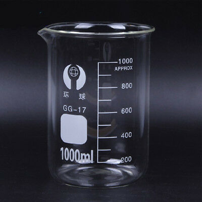 Set 5ml-1000ml Chemistry Laboratory Glass Beaker Borosilicate Measuring Glasswar