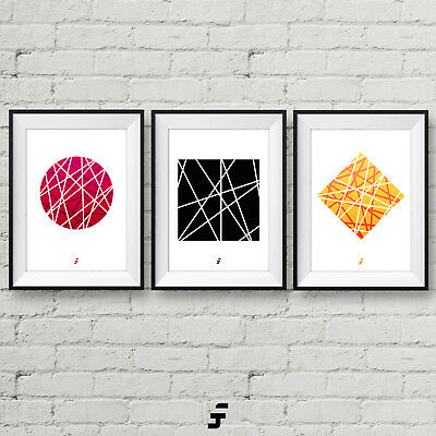 Abstract Modern Minimalist Poster Picture Wall Art Print A4 Gift