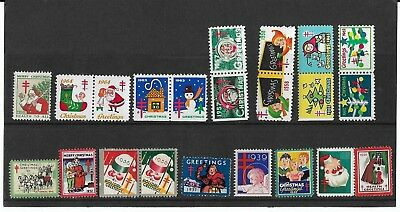 Collection of Xmas Cinderellas/Stamps 1930s to 1960s