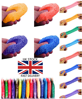 24 Colours Snow Mud Fluffy Foam Slime Putty Kids Toy Stress Relief