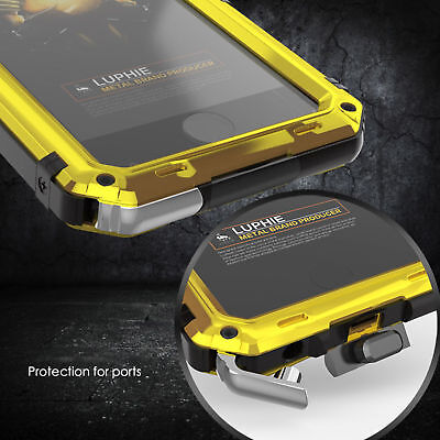 Luphie Waterproof Shockproof Metal Gorilla Glass Case Cover For iPhone X 6S 7 8