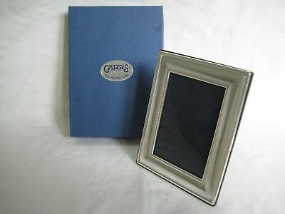 CARRS Sheffield Silver Easel Back Picture Frame, Boxed