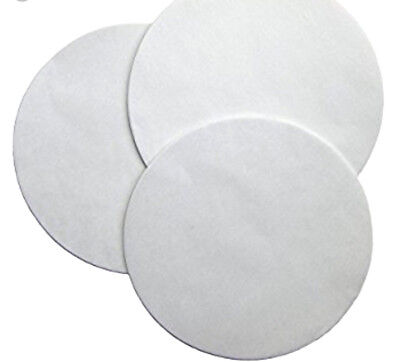 """Made in USA - 100 ct. 9"""" Parchment Paper Cake Circle White  Round Pan Liner"""