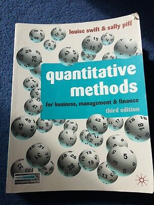Quantitative Methods for Business Management and Finance Third Edition, L.Swift