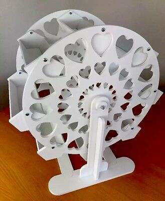 Candy Cart Ferris Wheel 32cm High,New,Sweet Display,10mm White Plastic,Free Sign