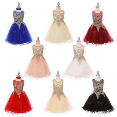 Flower Girl Dresses Dance Recital Party Formal Wedding Brithday Prom Bridesmaid