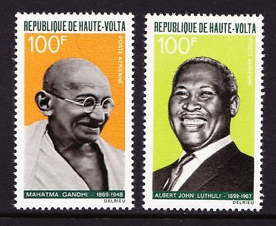 "Upper Volta 1968 ""Workers for Peace"" - Gandhi & Luthuli - MNH Pair - (139)"