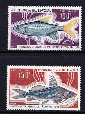 Upper Volta 1969 FISH - MNH pair of higher values - Cat £6.90 - (143)