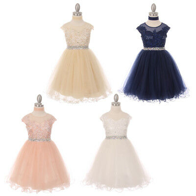Flower Girl Dresses Bridesmaid Graduation Wedding Birthday Formal Party Dance