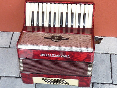 VINTAGE Accordéon ROYAL STANDARD rda GERMANY piano AKKORDEON ancien