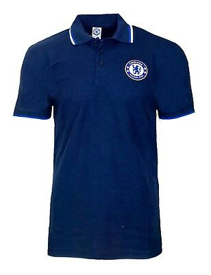 MENS Official CHELSEA FC Core Polo Shirt S M XL Football NAVY