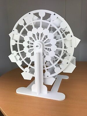 Candy Cart Ferris Wheel 45cm High,New,Sweet Display,10mm White Plastic,Free Sign