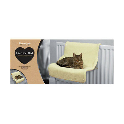 2 In 1 Luxury Faux Sheepskin Radiator Cat Kitten Pet Bed