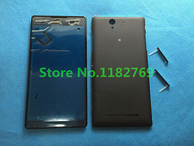 Full Front Panel Battery Door Housing + SIM Cover For Sony Xperia C3 S55T S55U