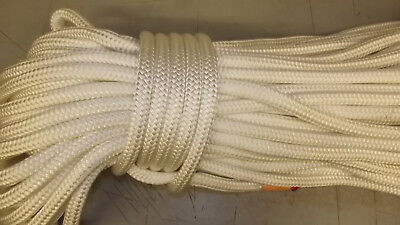 """5/8"""" (16mm) x 230' Double Braid Sail/Halyard Line, Jibsheets, Boat Rope -- NEW"""