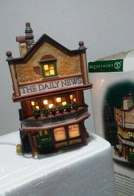 Department Dept 56 Dickens Village The Daily News TESTED EUC
