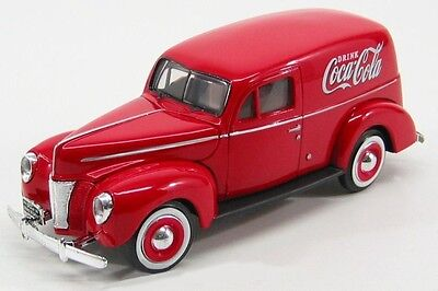 1:24 Coca Cola 365913 1940 Ford Delivery Panel Van rot  Neu & OVP