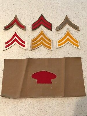 Lot of Pre-WW1 American Chevrons/Patches and Armband