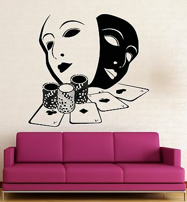 Cards Poker Removable Decor New Art Room Figures Game Mural Decal Wall Sticker