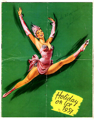 Programme Holiday On Ice 1957 ¤ Pin-Up ¤ Jacqueline Du Bief