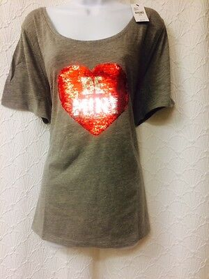 4d73643f5 LANE BRYANT SEQUIN graphic tee - NWT - 18/20 (2X) plus Valentine's ...