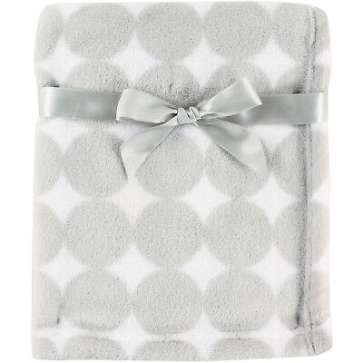 Luvable Friends Baby Boys' And Girls Coral Fleece Blanket, Top Quality Gray