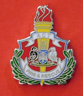 Act Fire & Rescue Lapel Badge 25Mm High Enamel And Nickel Plating Social Item
