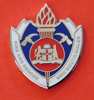 Fire & Rescue Nsw Lapel Badge Enamel & Nickel Plated 25Mm High Social Item Only