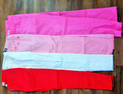 Juniors Jeans Lot, Colorful Jeans Lot, 4 pairs of Jeans, Size 3 Bisou Bisou,
