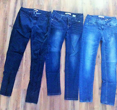 Juniors Jeans Lot, Blue Jeans Lot, 3 pairs of Jeans, Paris Blue, Bongo, Size 3