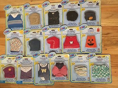 Webkinz Clothing LOT of 16 + Secret Codes for Plush Toy Dolls, Dogs, Cats NEW