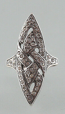 Silver 925 Ring with Swarovski stones Size uk 15 a9-01192