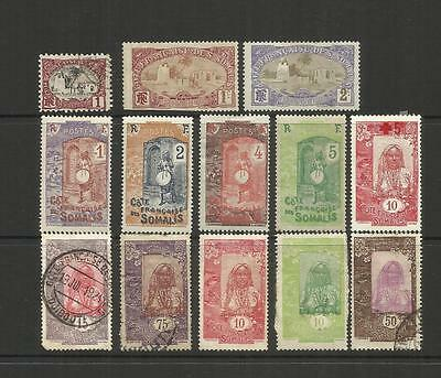 French Somali Coast (Djibouti) ~ 1902-1922  Definitives (Part Sets)