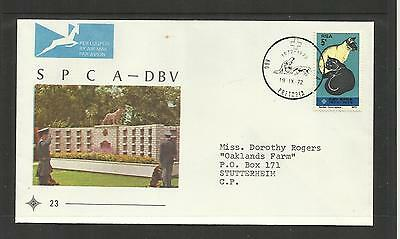 Rsa South Africa ~ 1972 Fdc Cover Spca-Dbv Cats