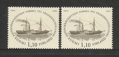 "Finland ~ 1981 ""nordia 81"" Paddle Steamer & Entry Tickets (Mnh)"