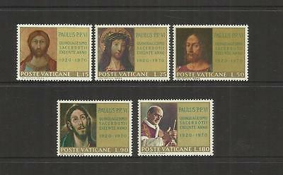 VATICAN CITY ~ 1970 POPE PAUL 50th ANNIV. ORDINATION (MINT MNH)