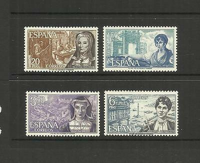 Spain Espana ~ 1969 Famous Spanish Women (Mint Set Mnh)