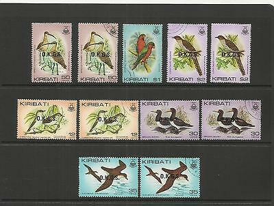 Kiribati (Gilbert Islands) ~ 1983 Official Service & Specimen Birds