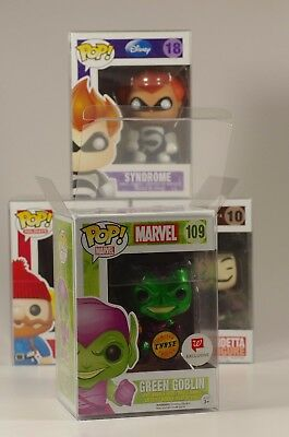 "Funko Pop! Protectors For 4"" Vinyls - Acid-Free, Crystal Clear, Perfect Fit!"