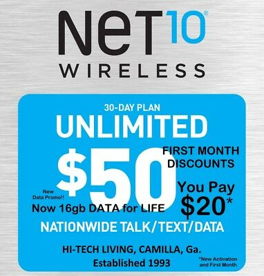 50% ++ OFF $50 NET10 >FIRST< MONTH with FREE ACTIVATION SALE