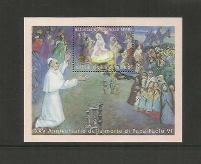 Vatican City ~ 2003 Christmas & Pope Paul Vi  Mini Sheet (Mint Mnh)
