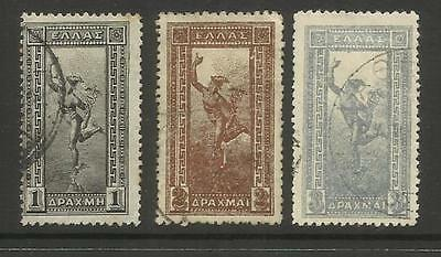 Greece ~ 1901 Hermes Definitives To 3 Drachma (Part Set Used)