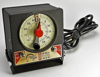 Vintage Simmon Omega Audible Repeating Darkroom Timer M-59 J-2970, Ex. Condition