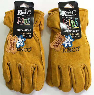 Kinco 50RL-Y (2-Pack) Warm Winter/ Gloves - for Boys/ Girls, Youth, Children.
